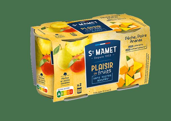Saint-Mamet-plaisir-de-fruit-pêche-poire-ananas-sans-sucres-ajoutés-lot-de-2
