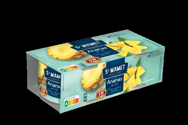 Saint Mamet - Ananas morceaux 1/4x2