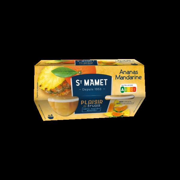 St Mamet - Plaisir de Fruits Ananas Mandarine coupelles