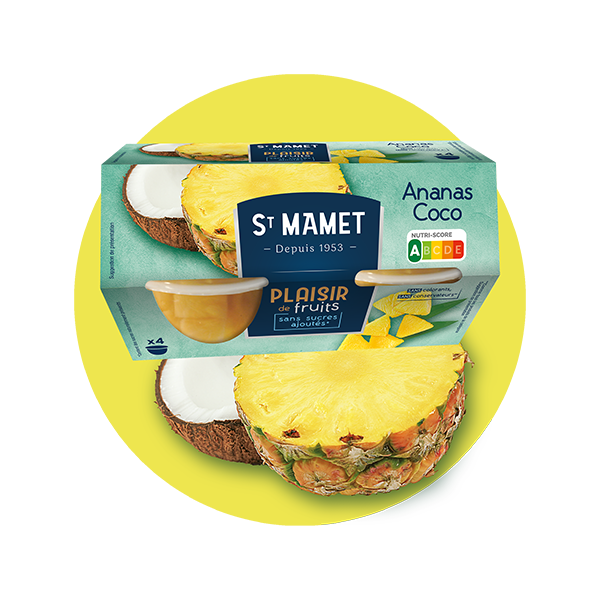 Saint Mamet - Plaisir de fruits Cup ananas coco
