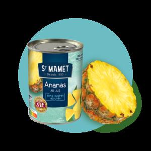 Saint Mamet - Conserve ananas morceaux