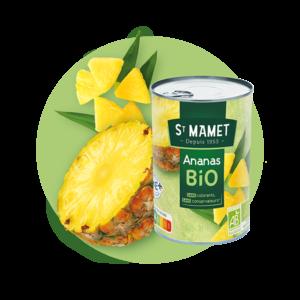 Saint Mamet - Conserve ananas bio