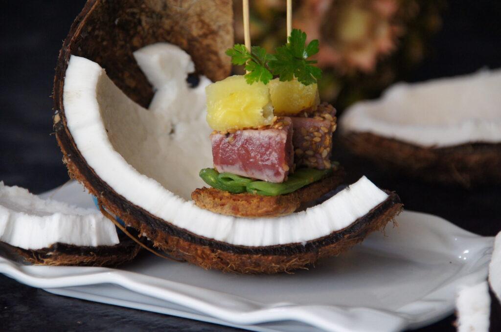 Tataki de thon à l'ananas