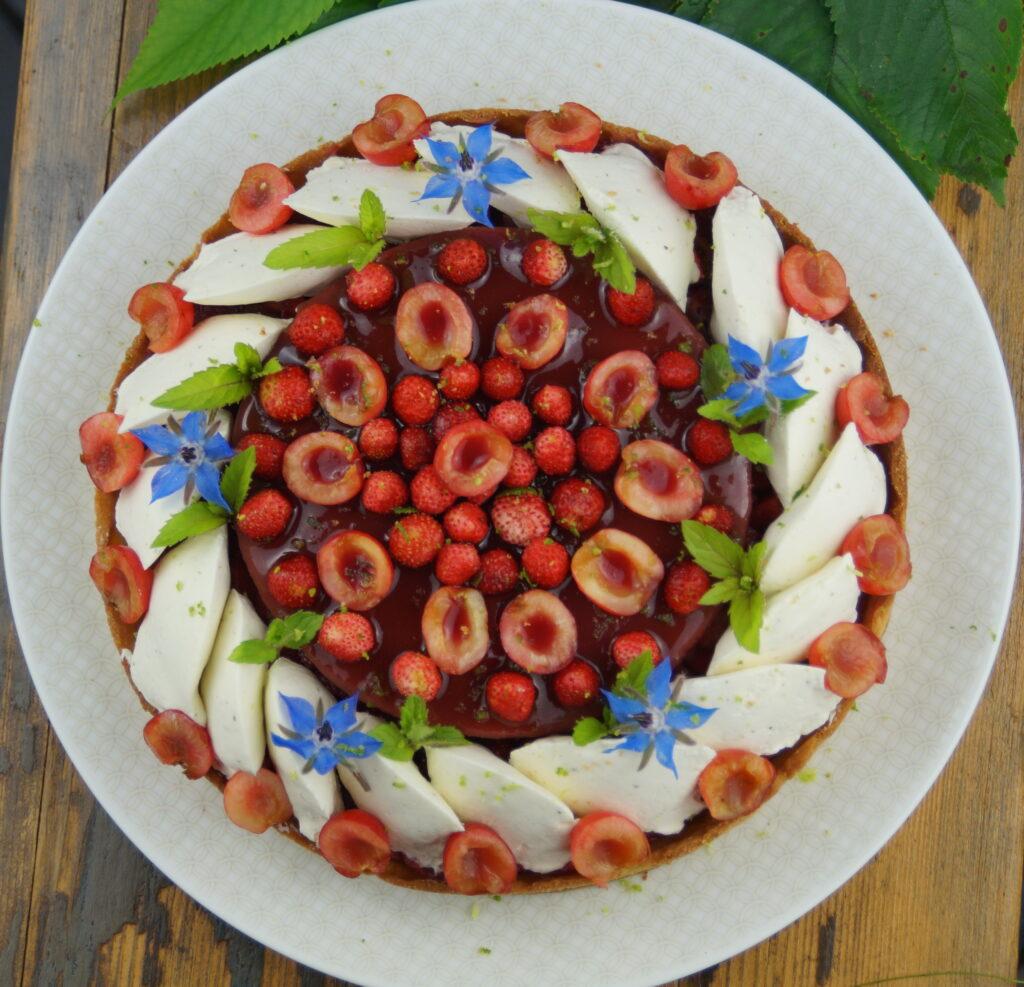 Tarte cerises et fraises